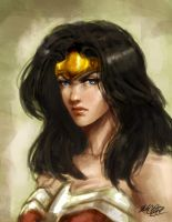 Wonder Woman painting by Mark-Clark-II