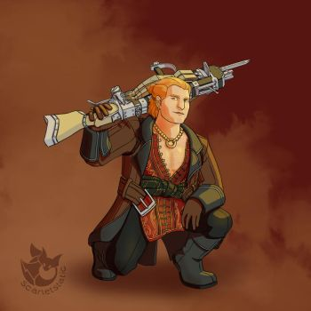 Varric Tethras by spiralstatic13
