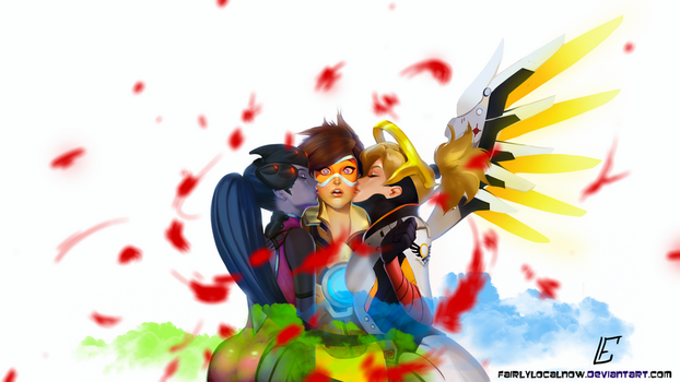 Tracer gets the double kiss 8D by FairlyLocalNow