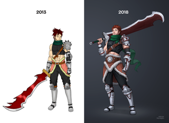 My improvement from 2013 to 2018 by Hector-Monegro