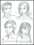 Sophomores:Alex-Lily-Mike-Bri by eERIechan