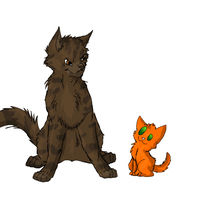 Tigerstar vs Firestar by Nicki-the-bunneh
