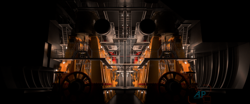 TITANIC Main Reciprocation Room by Davros-the-2nd
