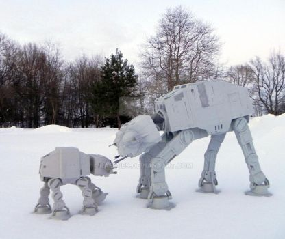 AT-AT and her baby2 by RaeB-ies