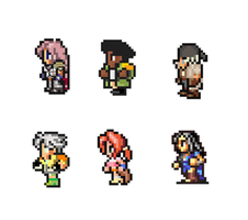 Final Fantasy XIII Sprites by blakmajick