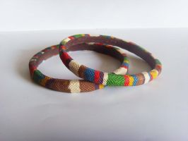 Doctor Who Tom Baker Scarf Bangle - 3 by tyney123