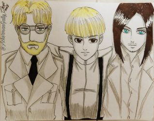 Yelena and Jaeger's brothers by gallygrace
