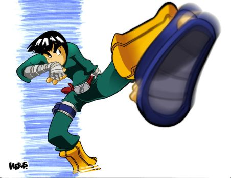 Rock Lee Kick by herms85
