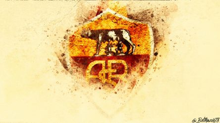 A.S. Roma Wallpaper Old Logo by Belthazor78