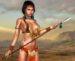 Indian Brave by Roy3D