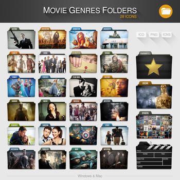 Movie Genres Folders by limav