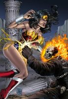WonderWoman vs Ghost Rider by spidey0318