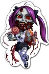 zombieGirlNew2 by johndevilman