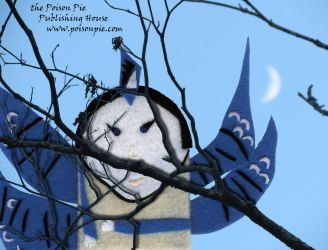 Blue Jay with Branches and Moon by PoisonPiePublishing