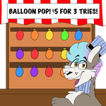 Balloon Pop! $5 for 3 tries! Unlimited Slots! by onetrickmagic