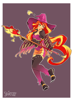 Black Mage Sunset Shimmer by Skirtzzz