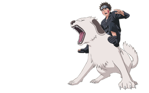 Kiba and Akamaru Render by xUzumaki