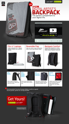 dA PRO Backpack Landing Page by TheRyanFord