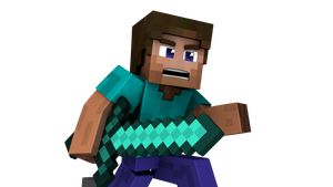 Minecraft Steve Render (Reupload) by Vex2001