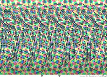 Stereogram: Rubik cube by leonbloy