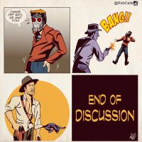 Indy Vs Quill by RickCelis