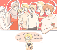 APH: ANOTHER NAKED CHRISTMAS by Randomsplashes