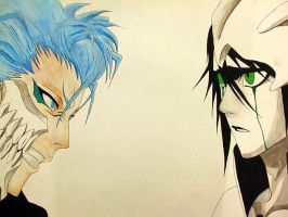 Grimmjow and Ulquiorra by ejlia