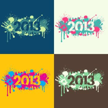 Grunge New Year Background - 2013 by JaneVision