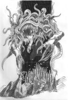the Dark Godess Shub-Niggurath by Asalgor