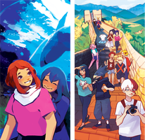 BNHA travel zine previews by knightic