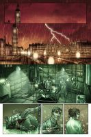 Lady Frankenstein Page 1 colored by kevinenhart