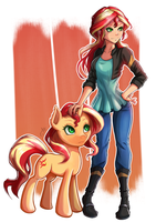 Double Sunset Shimmer by The-Park