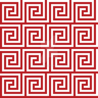 Geometric Pattern: Key Spiral: Red by redwolfoz