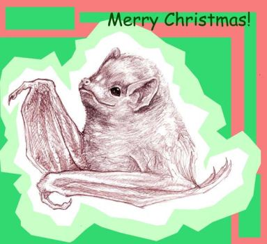 Holiday Red Bat by mishappen