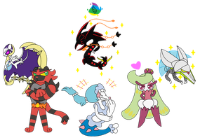 Drew My Team In Pokemon Moon