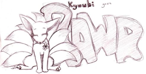 +naruto+ Kyuubi Goes rawr by Brionna