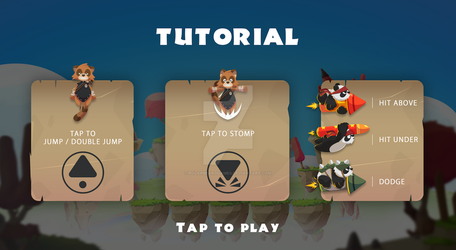 TanooJump - new tutorial screen design by polarbeardgames