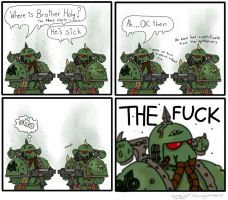 sick Plague Marine by TechmagusKhobotov