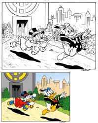 Donald Duck and Uncle Scrooge by EmmanueleBaccinelli