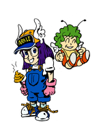 Arale and Gatchan by filipeG