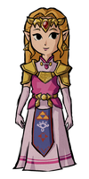 Princess Zelda Wind Waker of Time by Decapitated-Kittens