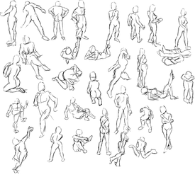 30 second Gesture Drawing 1 by radstylix