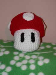 Crocheted Super Mushroom by sailorharmony2000