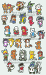Dance of 30 Chibis by Genolover