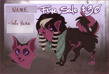 character for sale OPEN $30 USD (i can haggle) by miraclespout