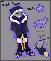 Trial!Sans Reference Sheet by Akecai