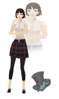 MMD Makoto Niijima(Summer Uniform)Model Download by TwoSidedMMD