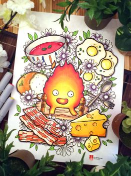 Howl Moving Castle Fanart: Calcifer by childheroes