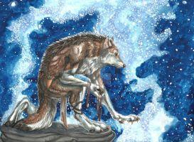 Hybrid Painting Commish- He Who Calls The Stars by Earthsong9405