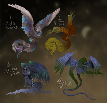 Fantasy Wolf Adoptables (prices lowered) by vethysnia